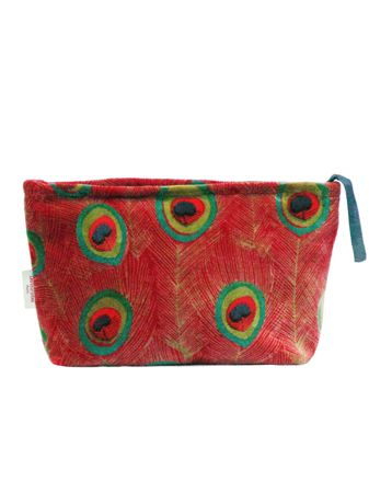 TROUSSE AIRPORT L<br>VELOURS PEACOCK RED