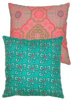 COUSSIN CARRE<br>JAVA TURQUOISE / TURKISH MELON