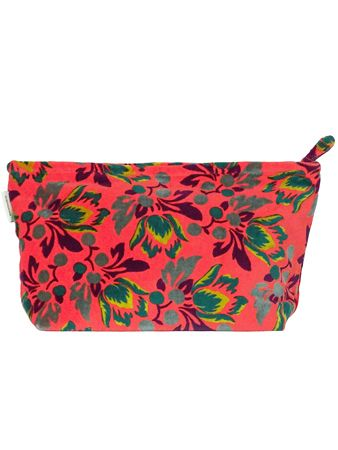 ‭‬TROUSSE AIRPORT XL<br>VELOURS TULIP HOT<br>L33 x H19 cm