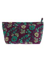 TROUSSE AIRPORT XL<br>VELOURS PETULA FIG<br>L33 x H19 cm