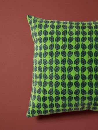 GRAND COUSSIN CARRE<br>VELOURS IOS NEW GREEN<br>45 x 45 cm