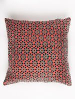 COUSSIN CARRE<br>VELOURS FES CORAL