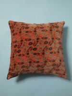 GRAND COUSSIN CARRE<br>VELOURS BUNDI ORANGE<br>45 x 45 cm