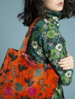 TATIE TOTE BAG + MAGNET<br>VELOURS SINTRA ORANGE<br>L36 x H34 cm