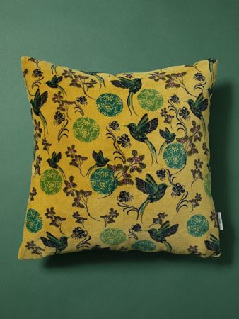 GRAND COUSSIN CARRE<br>VELOURS SINTRA GOLD<br>45 x 45 cm
