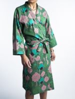 DRESSING GOWN<br>BIRD GREEN<br>(1 size fit all)