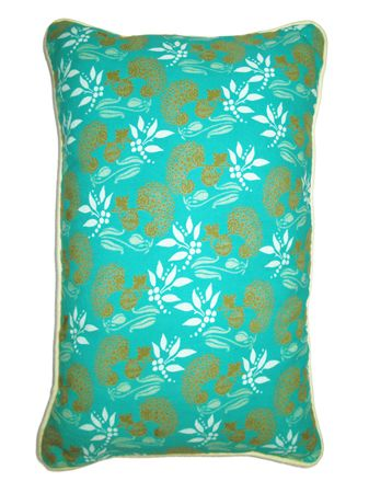 GRAND COUSSIN RECT.<br>SPIREE TURQUOISE<br>55 x 35 cm