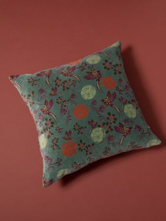 GRAND COUSSIN CARRE<br>VELOURS SINTRA LYCHEN<br>45 x 45 cm