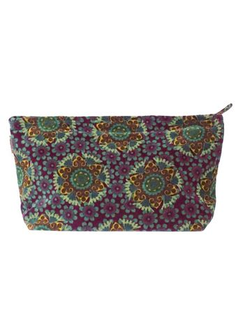 TROUSSE AIRPORT XL<br>VELOURS GUSTAVE FIG<br>L33 x H19 cm