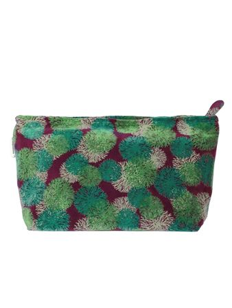 TROUSSE AIRPORT XL<br>VELOURS REEF FIG<br>L33 x H19 cm