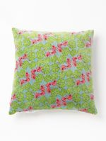 COUSSIN CARRE<br>VELOURS CYCLAMEN SILEX